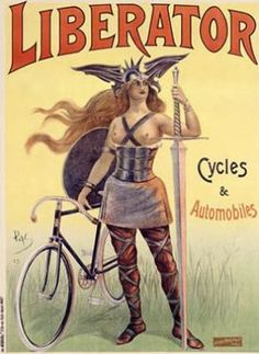 Classic posters: Liberator cycles & autmobiles