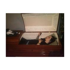 Didn't something similar come up only it was about Chris being in a coffin?