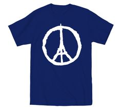 Stand In Unity with France - Pray For Paris - Dark Blue T-Shirt
