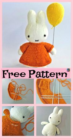 8 Knitted Adorable Bunny Free Patterns #freeknittingpatterns #bunny #amigurumi #toys #giftidea