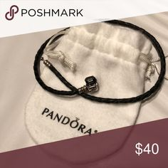 Pandora Rope (double wrap) Bracelet Double wraps your wrist.  Black Pandora Jewelry Bracelets