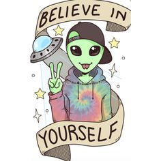Alien Outfitters - Mars On Mars Believer Sticker