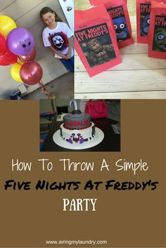 Looking to throw a simple Five Nights At Freddy's party? Let me show you how!