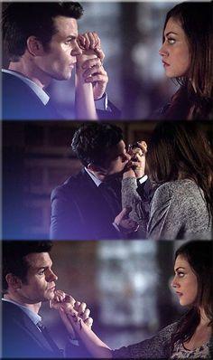 Elijah biting Hayley's wrist #Haylijah #TheOriginals