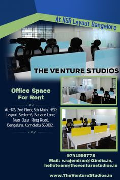 No L-176, 2nd Floor, 5th Main, HSR Layout, Sector-6,Service Lane, Near Outer Ring Road, Bengaluru, Karnataka 560102 | Mon-Sat 9AM - 6PM #theventurestudios.inBangalore #theventurestudios.inBangalore_hsr_layout #office_space #shared_space #furnishedspace #coworkingspace #btmlayout #agara #koramangala #silkboard #Bengaluru Office Admin, Shared Office, Power Backup, Best Places To Work, Residential Complex, Site Visit, Office Setup, Gym Membership, Business Centre