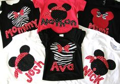 cute different color shirts with different appliques for the kids