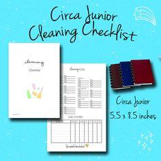 Circa Junior Insert, Chore Checklist, Discbound Insert, Planner insert, Printable Planner, Pdf by BrookeEvahPrints on Etsy
