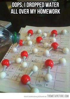 """This made me laugh ...Oh when I think back to """"Organic and Biochem""""...and using these lil molecule models...kjm"""