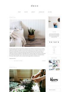 Responsive Wordpress Theme Deco INSTANT by BloomBlogShop on Etsy