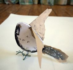 Lovely sculpture ideas for primary schools - using drawing and making to create a collection of birds! Step by step and beautiful illustrations.