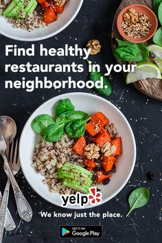 Eat healthy in your neighborhood. Install Yelp and filter results by distance, rating, price and hours of operation to find the newest and hottest restaurants. Whatever you?re craving, Yelp has the perfect recommendation for you.