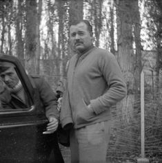 Hemingway during Spanish Civil War.