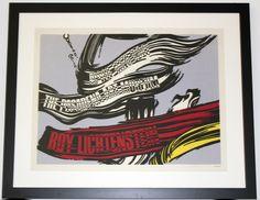 """Roy Lichtenstein """"Brush"""" hand-signed litography"""