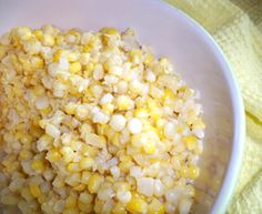 Frozen Sweet Corn (not Precooked) | Avoid the hassle of precooking sweet corn when you are freezing it with this easy frozen corn recipe. Just cut off the cob, and mix with ice water, sugar, and salt.