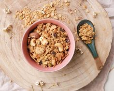 Nutty Oat Granola Runner Beans, Homemade Breakfast, Granola, Peanut Butter, Almond, Oatmeal, Smoothies, Berries, Food