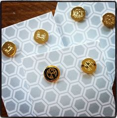 New Gold Tone Monogrammed earrings! $26