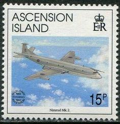 Stamp: Nimrod Mk 2 (Ascension Island) (Falkland Liberation) Mi:AC 586,Sn:AC 544,Yt:AC 567