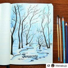 #Repost @lifeinabujo with @repostapp ・・・ Good morning bujo-friends! It will be January in a few days and I'm setting everything for the new month. The trees are came back. I always dream about living near a forest and I hope one day I could do. I love drawing animals and cute doodles but sometimes I need to express my deepest feelings and these last few days I felt very cold inside and outside. This is the place where I could feel my thoughts in harmony with the world. ❄ ❄ ❄ #bulletjournal…
