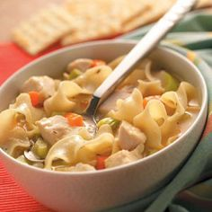 Roasted Chicken Noodle Soup Recipe from Taste of Home
