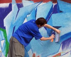 Splash Of Colour As Street Artists Tackle Underpass