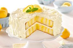 Luscious Lemon Poke Cake - I made one with raspberry jello and then banana pudding mixed with the cool whip.  It was a huge hit!