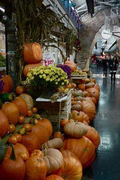 Autumn season at Chelsea Market, NYC Fall Halloween, Vintage Halloween, Halloween Photos, Autumn Scenes, Autumn Day, Hello Autumn, Autumn Leaves, Autumn Aesthetic, Happy Fall Y'all