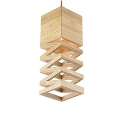 Solid ash wood pendant with stairs sharp. it's could be use for   wall lamp.