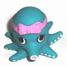 Baby Bath Toy with Octopus Design, Measures 10 x 7cm