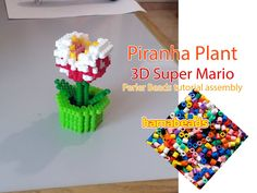 3D melty beads assembly Piranha Plant from Super Mario