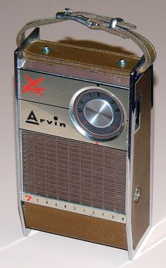 Vintage Arvin 7 Transistor Radio, Model 61R48 (Chestnut), Broadcast Band Only (MW), Made In USA, Circa 1961.