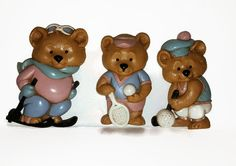 Burwood Sports Bear Plaques  Vintage by PurePoetrysEmporium