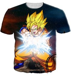 Dragon Ball Z - Super Saiyan Goku Kamehameha T-Shirt - 3D Shirt