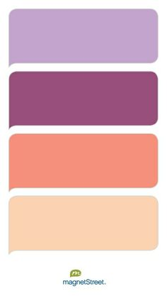 Lilac, Mulberry, Coral, and Peach Wedding Color Palette - custom color palette created at MagnetStreet.com