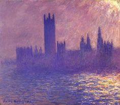 Houses of Parlilament, Sunlight Effect - Claude Monet