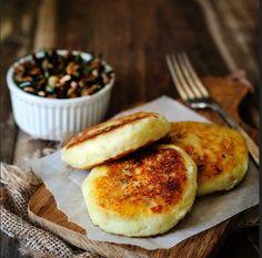 Sublime Mushroom-Stuffed Vegan Potato Cakes-Using GF flour of course.