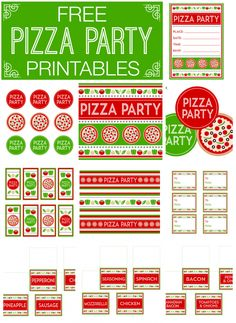 Free Pizza Party Printables from Printabelle