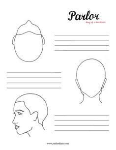 Head Diagram Stencils Hairbrained Haircut Avanard