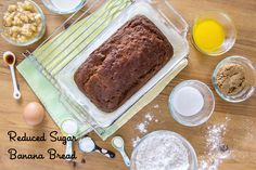 Reduced sugar Banana Bread. Updated classic recipe with less than half the sugar from weelicious and @Truvia http://www.truvia.com/recipes/reduced-sugar-banana-bread
