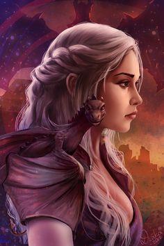 Mother Of Dragons, game of thrones, Daenerys Targaryen, Raivis Draka on ArtStati. Dessin Game Of Thrones, Arte Game Of Thrones, Game Of Thrones Artwork, Fantasy Magic, Fantasy Dragon, Fantasy Art, Fantasy Creatures, Mythical Creatures, Character Inspiration