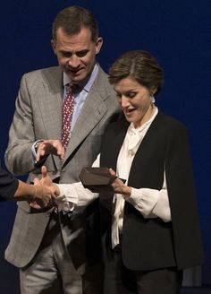 King Felipe VI of Spain and Queen Letizia of Spain attended the National Innovation and Design Awards 2015 on November 5, 2015 in Malaga, Spain.