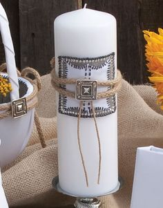 Make your Western Wedding elegant with a Big Sky Unity Candle $36.95. WhereBridesGo.com #wherebridesgo