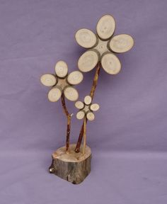 Wooden Flower 389 by PaWoods on Etsy, $16.00