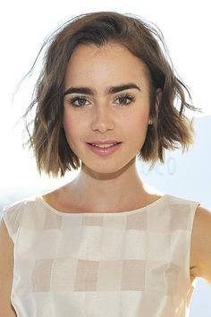 lily collins hair bob - Google Search