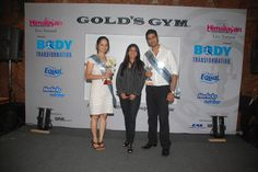 Althea Shah - Vice President of Golds Gym with the winners of the Body Transformation contest.  May 2011 At Gold's Gym Bandra