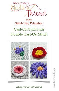 Stitch Play Printable: Cast-On Stitch and Double Cast-On Stitch