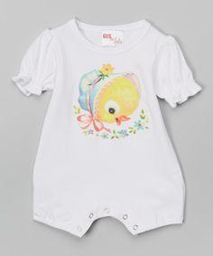 Look at this #zulilyfind! Gus & Lola White Chick Romper - Infant by Gus & Lola #zulilyfinds