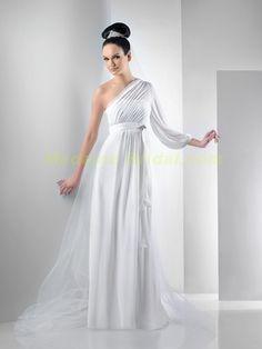 so elegant Grecian Wedding Dress - http://casualweddingdresses.net/grecian-wedding-dress-walk-down-the-aisle-like-a-greek-goddess-with-your-ethereal-grecian-wedding-dress/