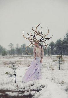 #reindeer #woman #styling
