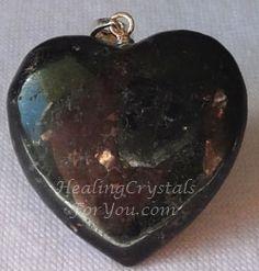 Nuummite Crystal Heart Shaped Pendant