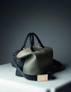 "Chloe-Winter-2014-Accessories- two tone ""baylee"" handbag"